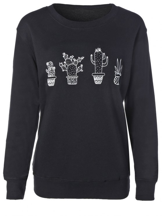 ladies Cactus Sweatshirt - BLACK M