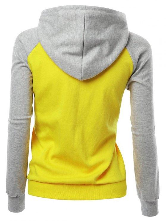 Casual Raglan Sleeve Hoodie - GRAY XL Mobile