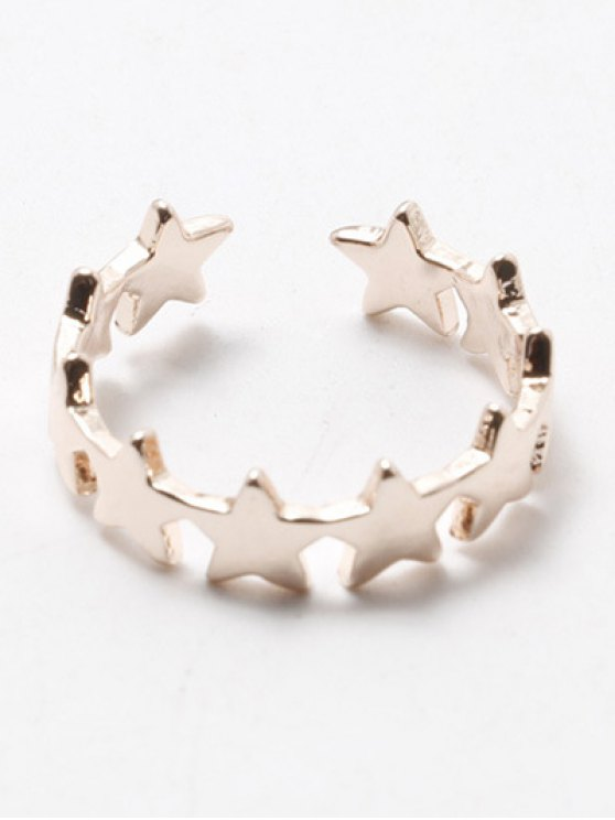 Polished Star Cuff Ring - CHAMPAGNE  Mobile