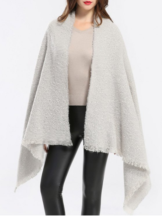 Winter Shawl Scarf - OFF-WHITE  Mobile