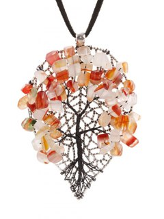 Autumn Tree Necklace - Paster Orange