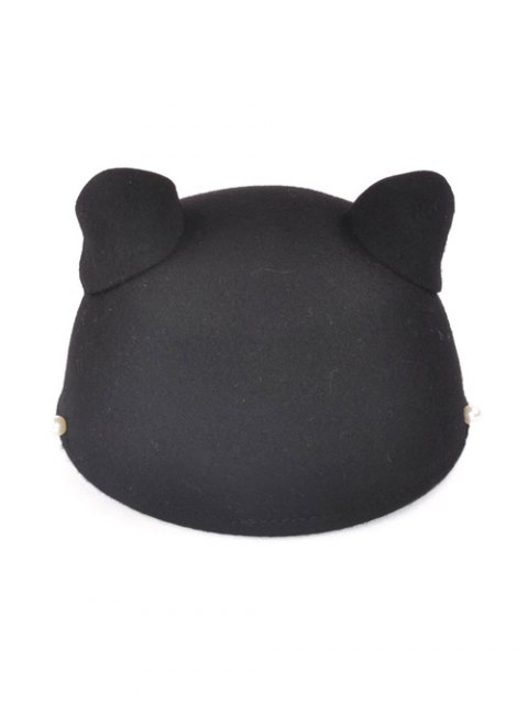new Adjustable Outdoor Faux Pearls Cat's Ear Equestrian Hat - BLACK  Mobile