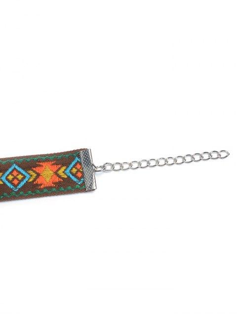 buy Embroidered Choker - ORANGE  Mobile