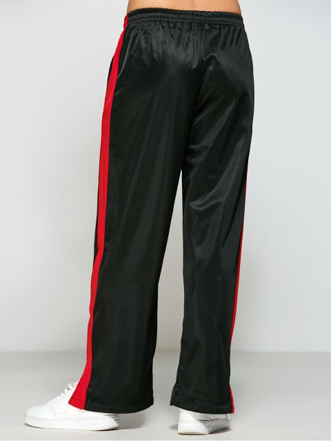 hot Color Block Furcal Track Pants - BLACK L Mobile