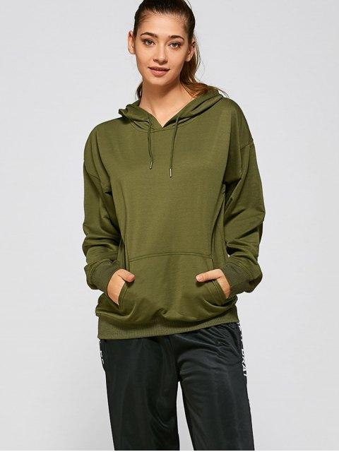 buy Casual Loose Hoodie - ARMY GREEN M Mobile