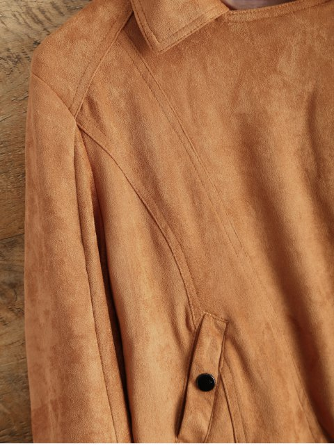 outfit Suede Tassels Jacket - BROWN XL Mobile