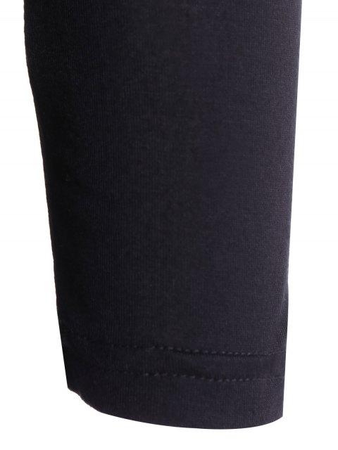women Strappy V Neck Surplice T-Shirt - BLACK M Mobile