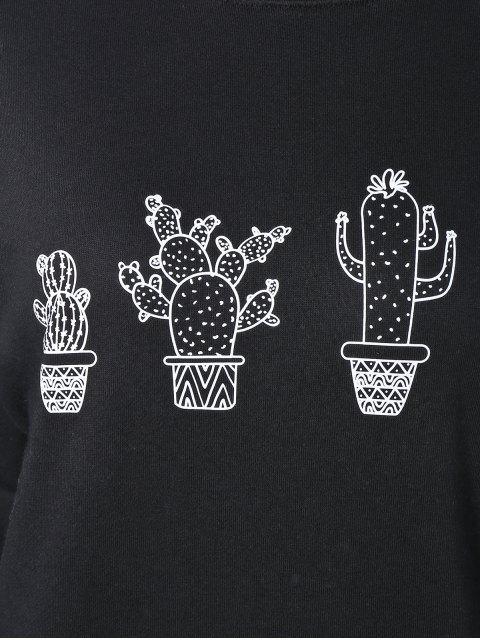 ladies Cactus Sweatshirt - BLACK M Mobile
