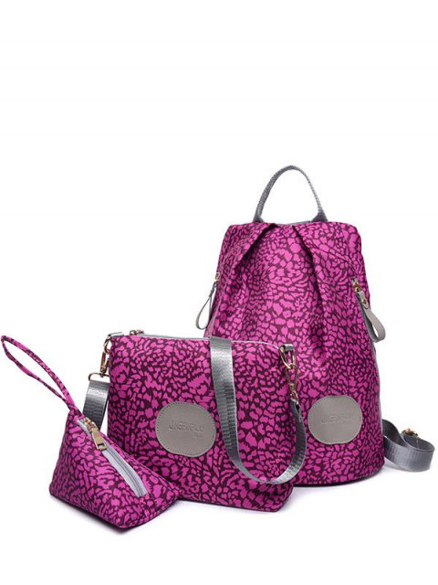 unique Print Zippers Color Spliced Backpack -   Mobile