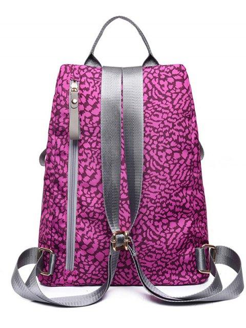unique Print Zippers Color Spliced Backpack - VIOLET ROSE  Mobile