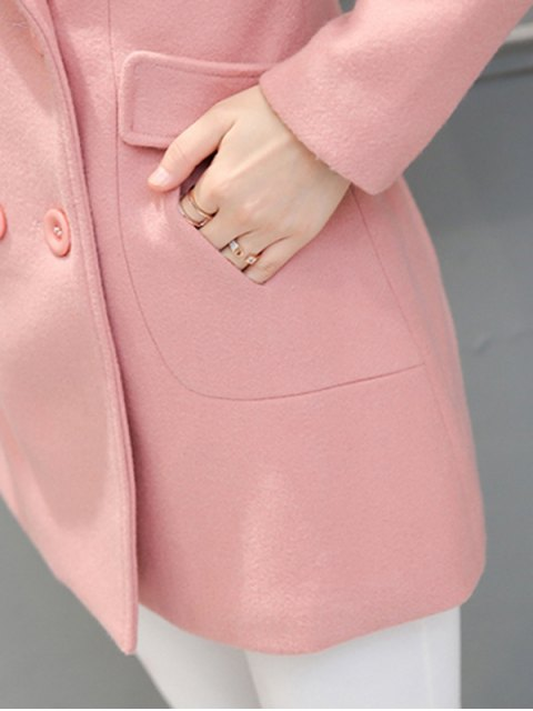 best Fur Collar Walker Peacoat - RED M Mobile
