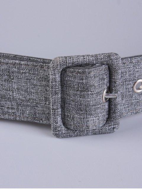women PU Leather Pin Buckle Belt - GRAY  Mobile