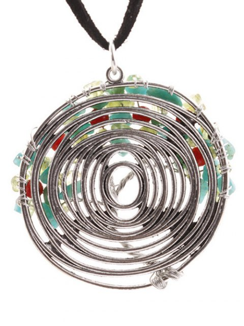 buy Spiral Life Tree Necklace - SILVER  Mobile