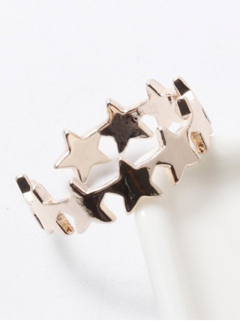 outfits Polished Star Cuff Ring - CHAMPAGNE  Mobile