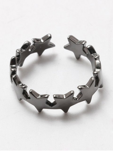 shop Polished Star Cuff Ring - GUN METAL  Mobile