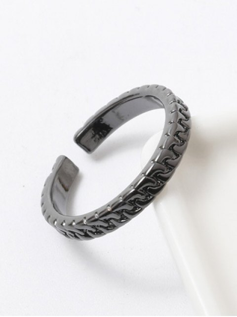 shops Polished Roman Ring - GUN METAL  Mobile