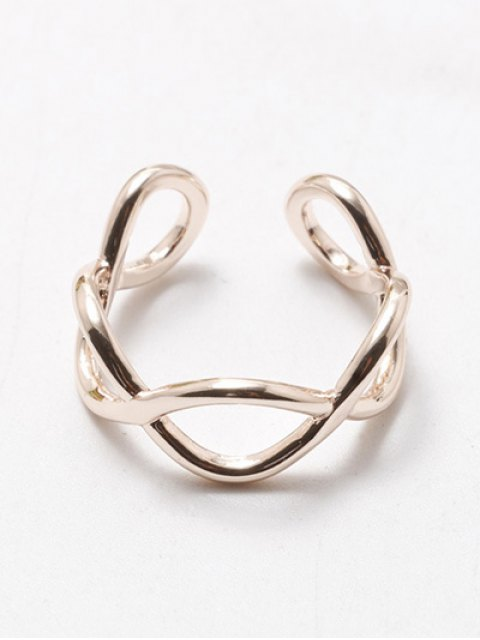 fashion Filigree Infinity Cuff Ring - ROSE GOLD  Mobile
