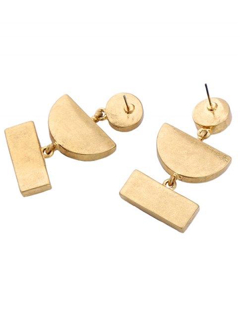shops Geometric Fake Gemstone Drop Earrings - GOLDEN  Mobile