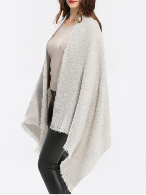 sale Winter Shawl Scarf - OFF-WHITE  Mobile