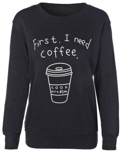 Coffee Cup Letter Sweatshirt