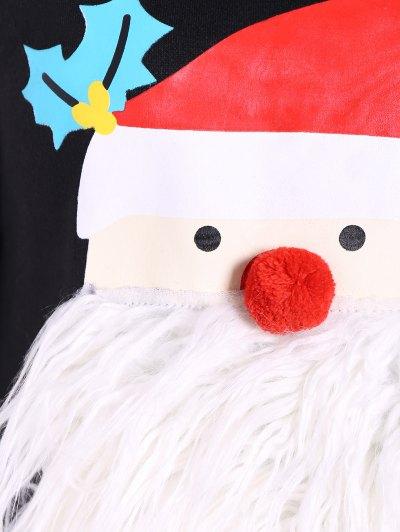 Fleece Christmas Sweatshirt - BLACK XL Mobile