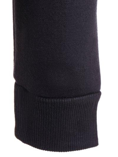 Fleece Christmas Sweatshirt - BLACK S Mobile