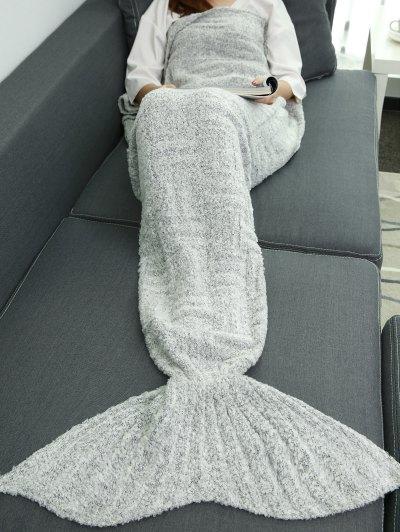 Sofa Sleeping Bag Wrap Mermaid Tail Blanket - GRAY  Mobile