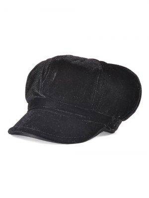 Soft Outdoor Adjustable Pleuche Beret Cap - Black