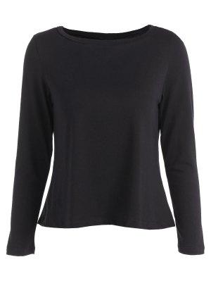 Lace Spliced T-Shirt - Black