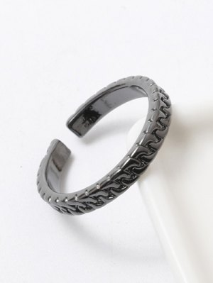 Polished Roman Ring - Gun Metal