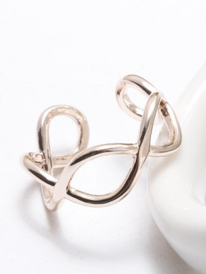 Filigree Infinity Cuff Ring - Rose Gold