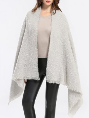 Winter Shawl Scarf - Off-white