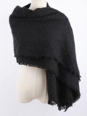 Winter Shawl Scarf - Black