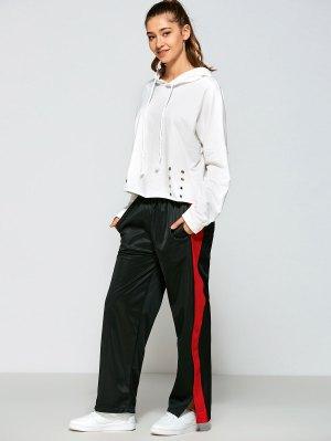 Color Block Furcal Track Pants - Black