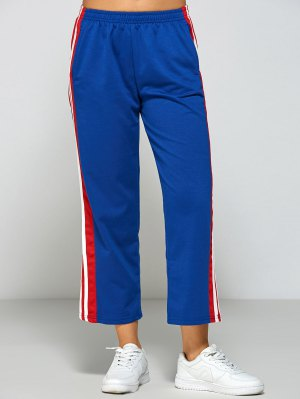 Stripes Fitting Track Pants - Blue