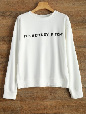 Letter Graphic Sweatshirt - White