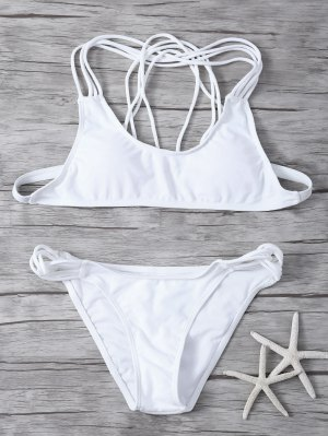 Padded Strappy Bikini - White