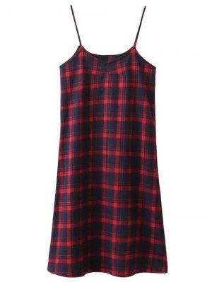 Tartan Midi Slip Plaid Dress - Plaid