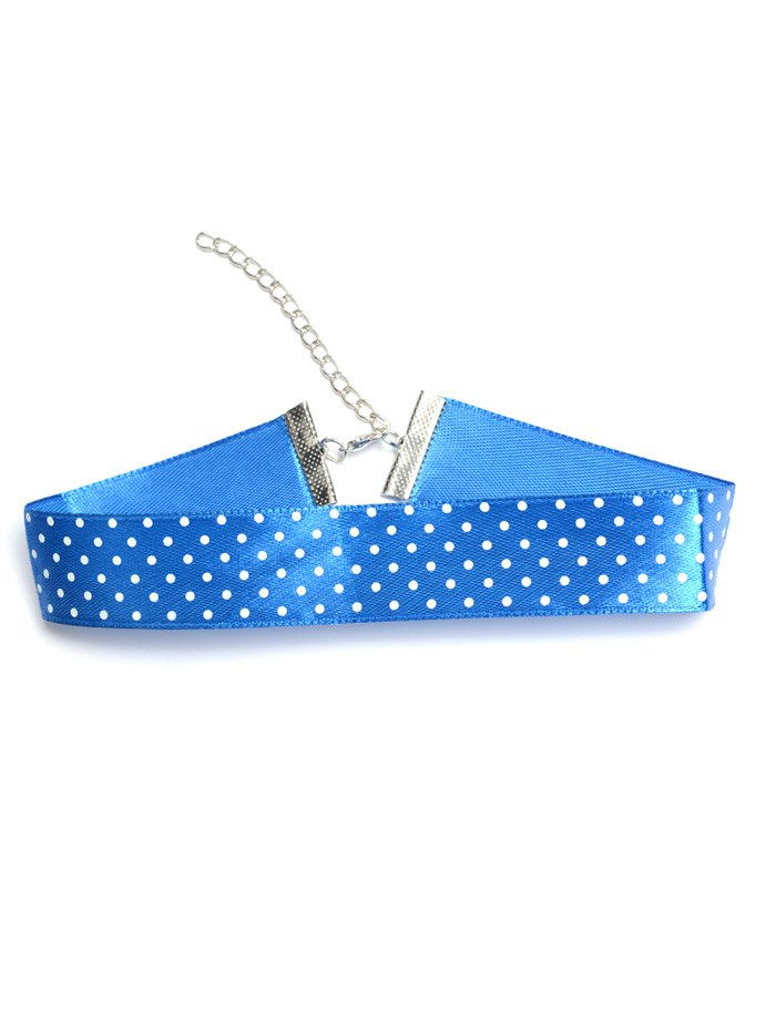 Polka Dot Pattern ChokerAccessories<br><br><br>Color: BLUE