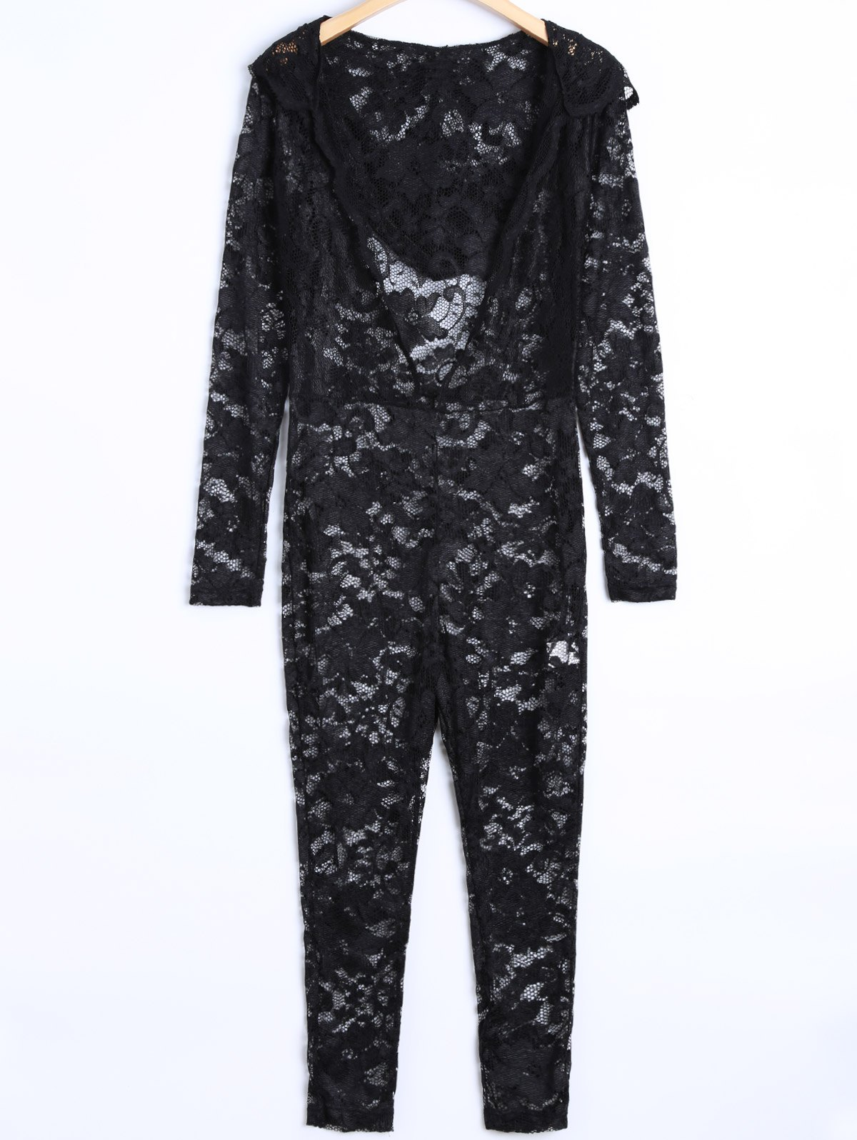 See-Through Lace Jumpsuit
