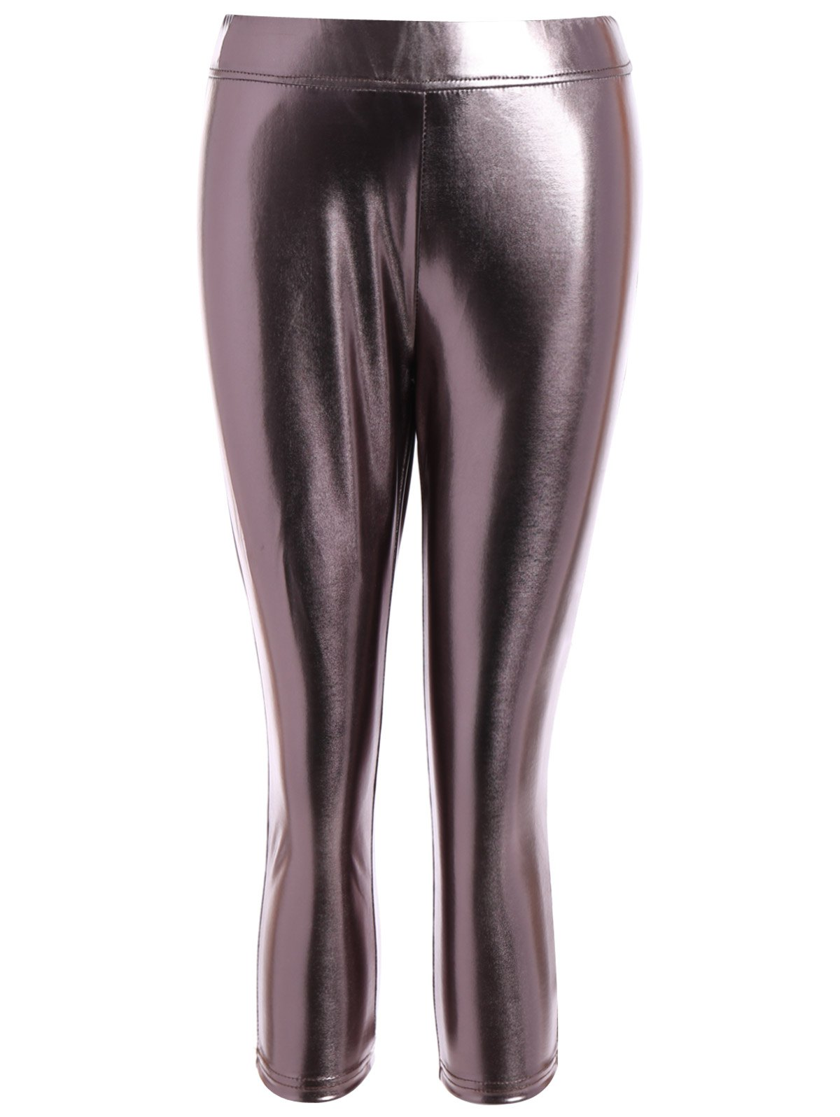 Metallic Color LeggingsClothes<br><br><br>Size: 2XL<br>Color: METALLIC