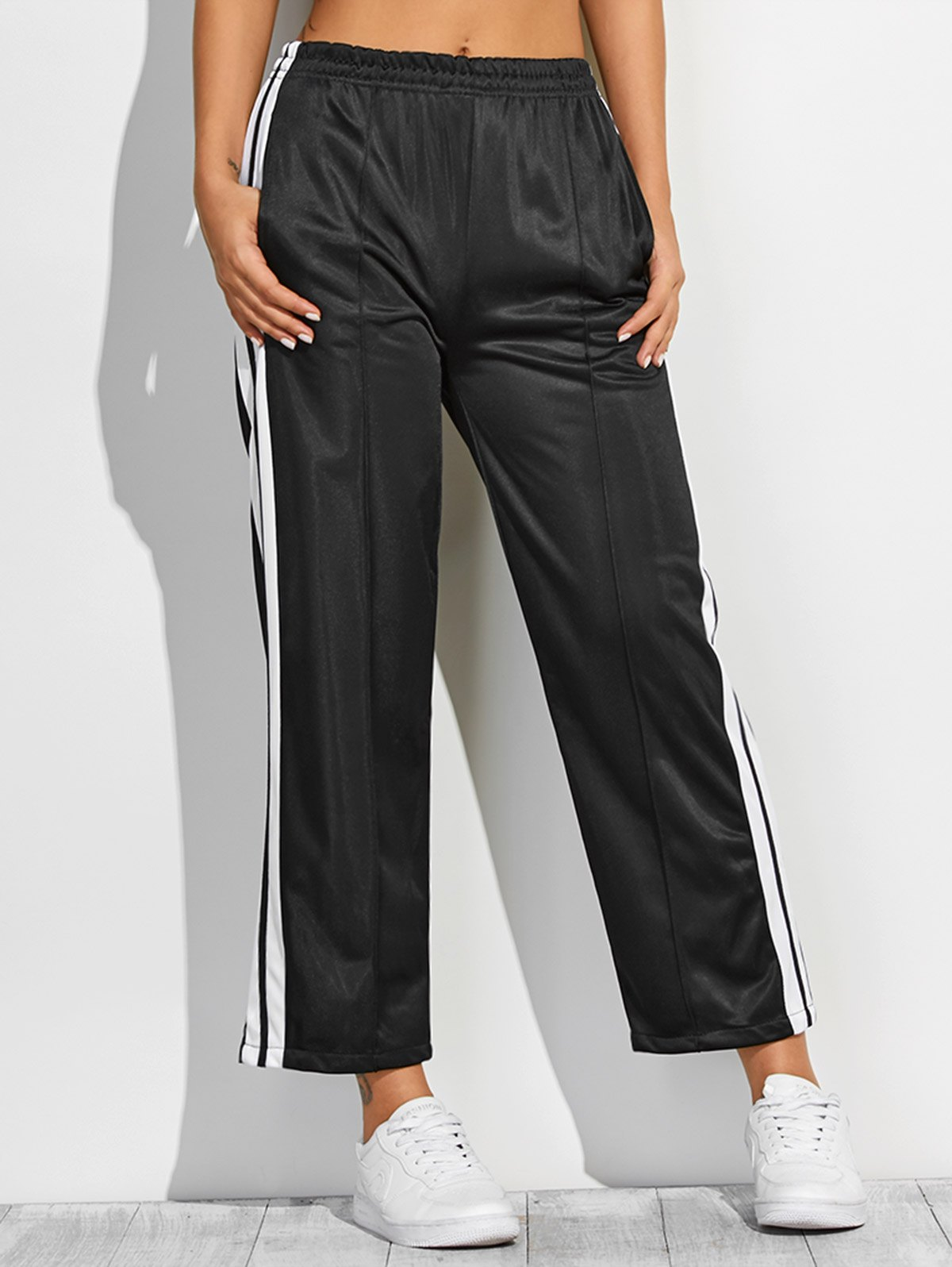 White Stripes Furcal Fitting Track Pants