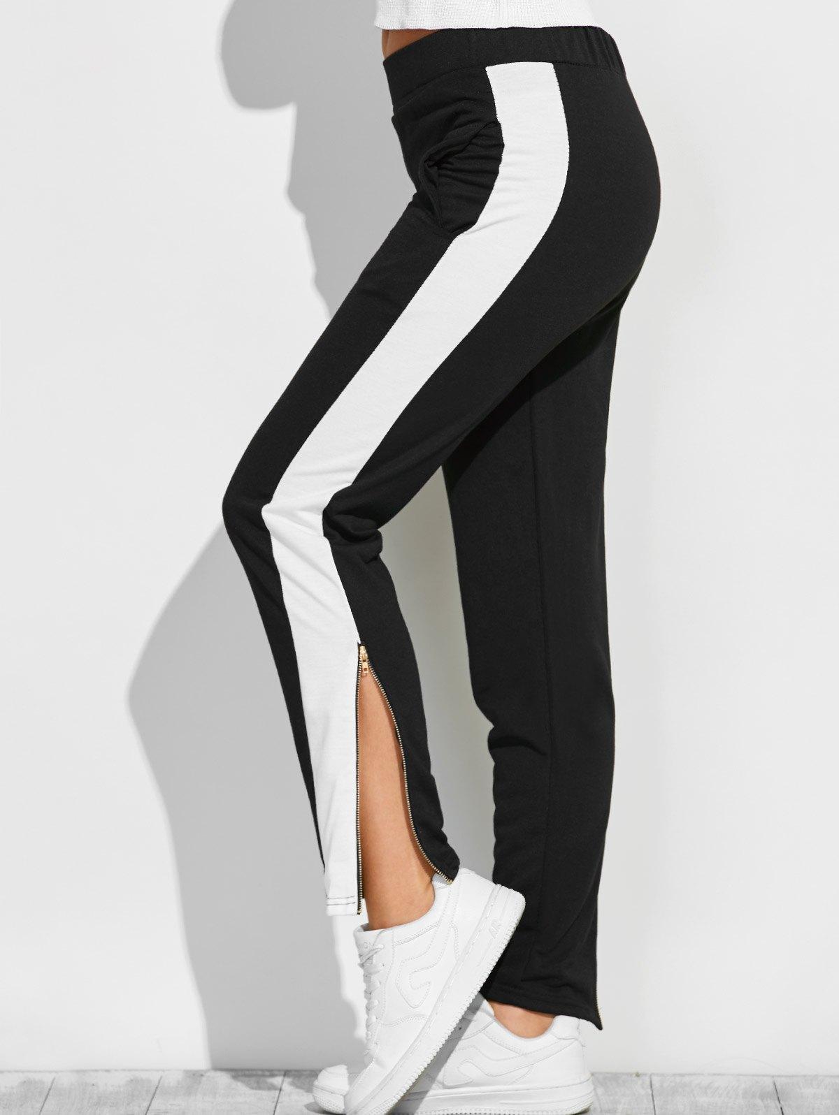 Color Block Zipper Furcal Gym Pants