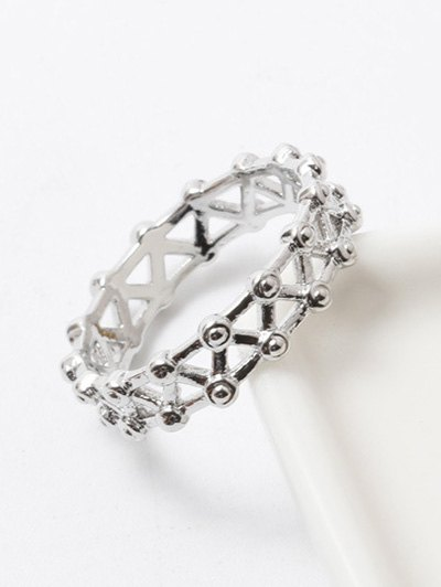 Filigree Rivet Criss Cross Ring
