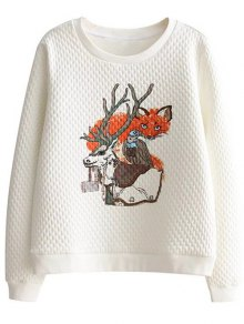 Animal Pattern Sweatshirt