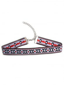Square Embroidered Choker