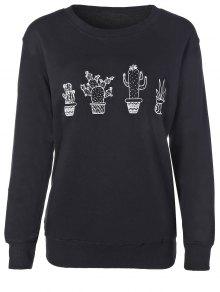 Cactus Sweatshirt - Black M