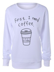 Coffee Cup Letter Sweatshirt