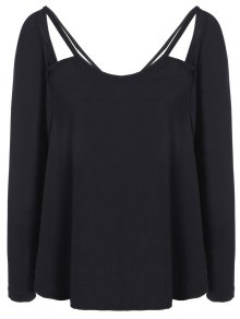 Casual Cut Out T-Shirt - Black S