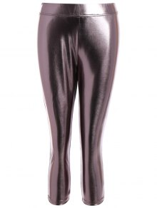 Metallic Couleur Leggings - Métallique